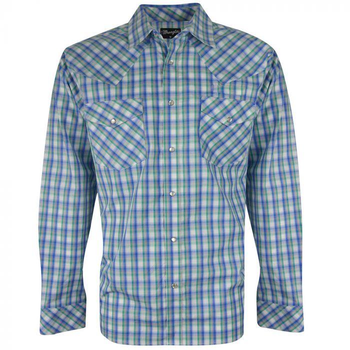 Wrangler Mens Stan Check L/S Shirt