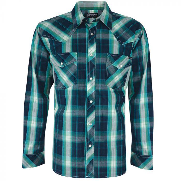 Wrangler Mens Pat Check L/S Shirt -  Sz S & XXL Only
