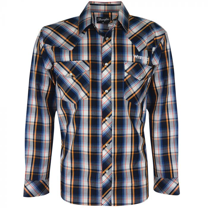 Wrangler Mens Drummond Check L/S Shirt - Sz S, & XL Only