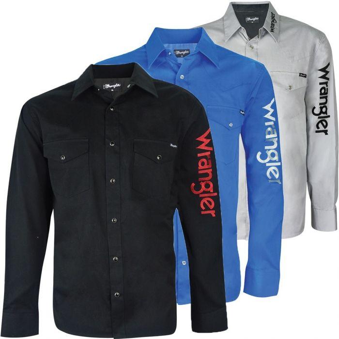 Wrangler Mens Rodeo L/S Drill Shirt