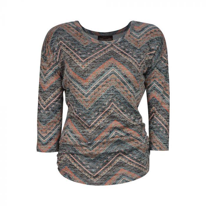 Wrangler Womens Jana 3/4 Sleeve Top